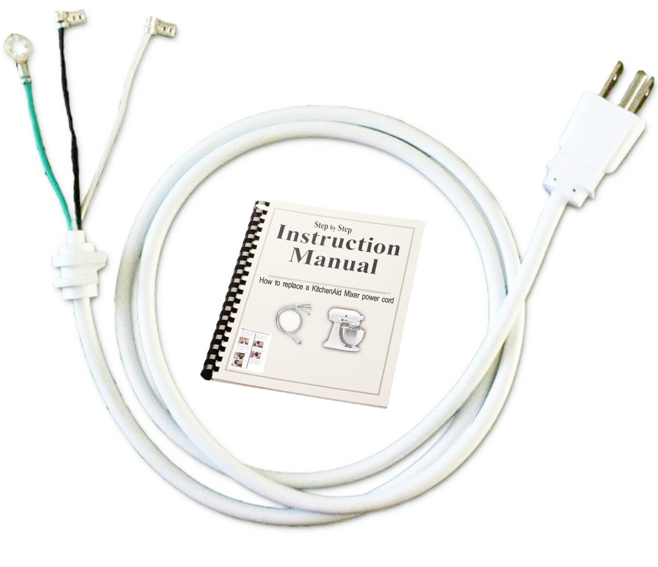 KitchenAid Stand Mixer Replacement White Cord for Model Number AP4926890 PS3489603 9701025 W10325327 W10164882