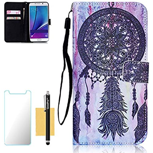 S7 Edge Case, Galaxy S7 Edge Case, GoodPro(TM); (Pictures Wallet) (Dreamcatcher) Wallet Case Wristlet PU Leather For Samsung Galaxy S7 Edge, (+Screen Sales