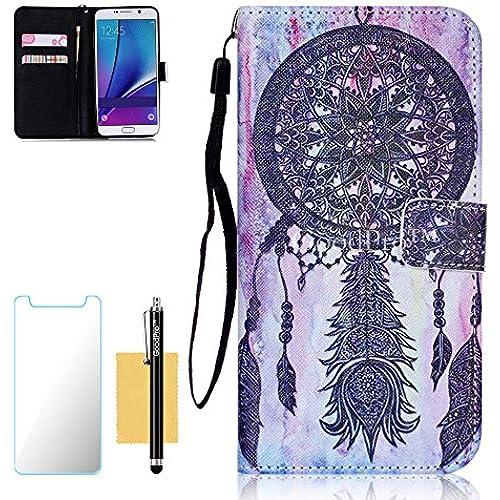 S7 Case, Galaxy S7 Case, GoodPro(TM); (Pictures Wallet) (Dreamcatcher) Wallet Case Wristlet PU Leather Wallet Sales