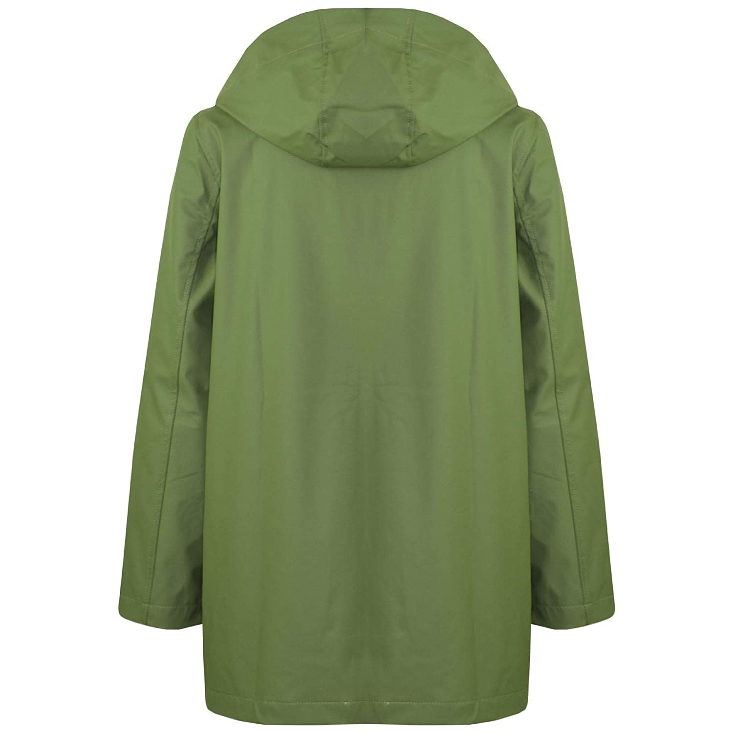 A2Z Kids Girls Boys PU Raincoat Jacket Green Hooded Waterproof Rainmac Cagoule 5-13Y