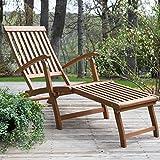 Deck Lounge Chair Coral Coast Dorado Acacia Steamer Deck Lounge Chair