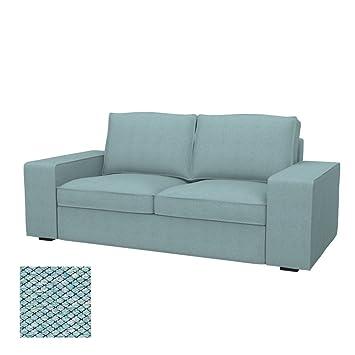 Soferia - IKEA KIVIK Funda para sofá de 2 plazas, Nordic Sea ...