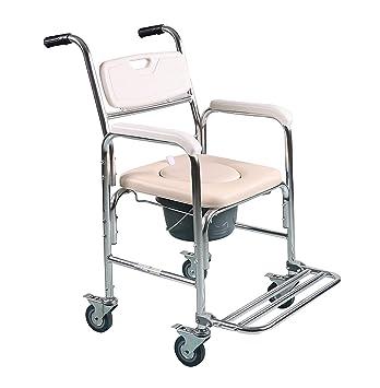 Asiento acolchado con asiento para silla de ruedas, mesa de duchas, silla de baño