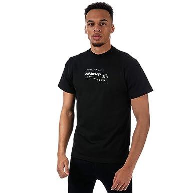 3bbf4c2b27865 adidas Originals - Camiseta - para Hombre Negro Negro (XL  Amazon.es  Ropa  y accesorios