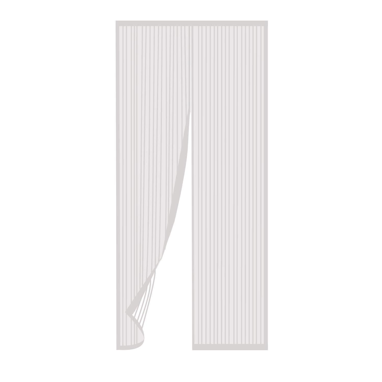 TRIXES Porte moustiquaire Noire avec moustiquaire Panneau de Rideau de Porte Pliable Filet /à Pression Laisse Entrer lair Frais Convient aux Portes jusqu/à 90 x 210 cm
