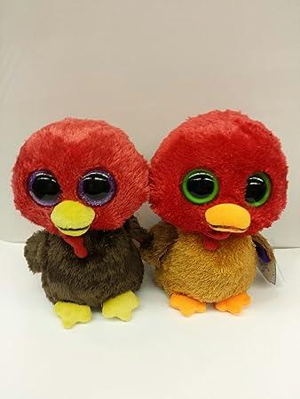 ed0bea7bee9 Amazon.com  Thanksgiving Turkey Set Ty Beanie Boos Gobbles and Thankful   Toys   Games