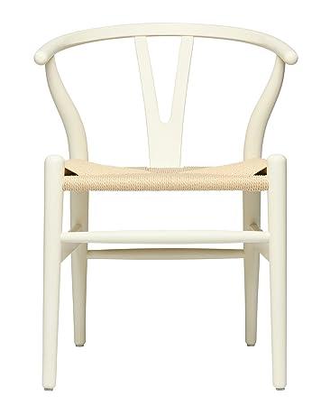 Amazon.com: Hans Wegner Silla de asiento tejida estilo ...