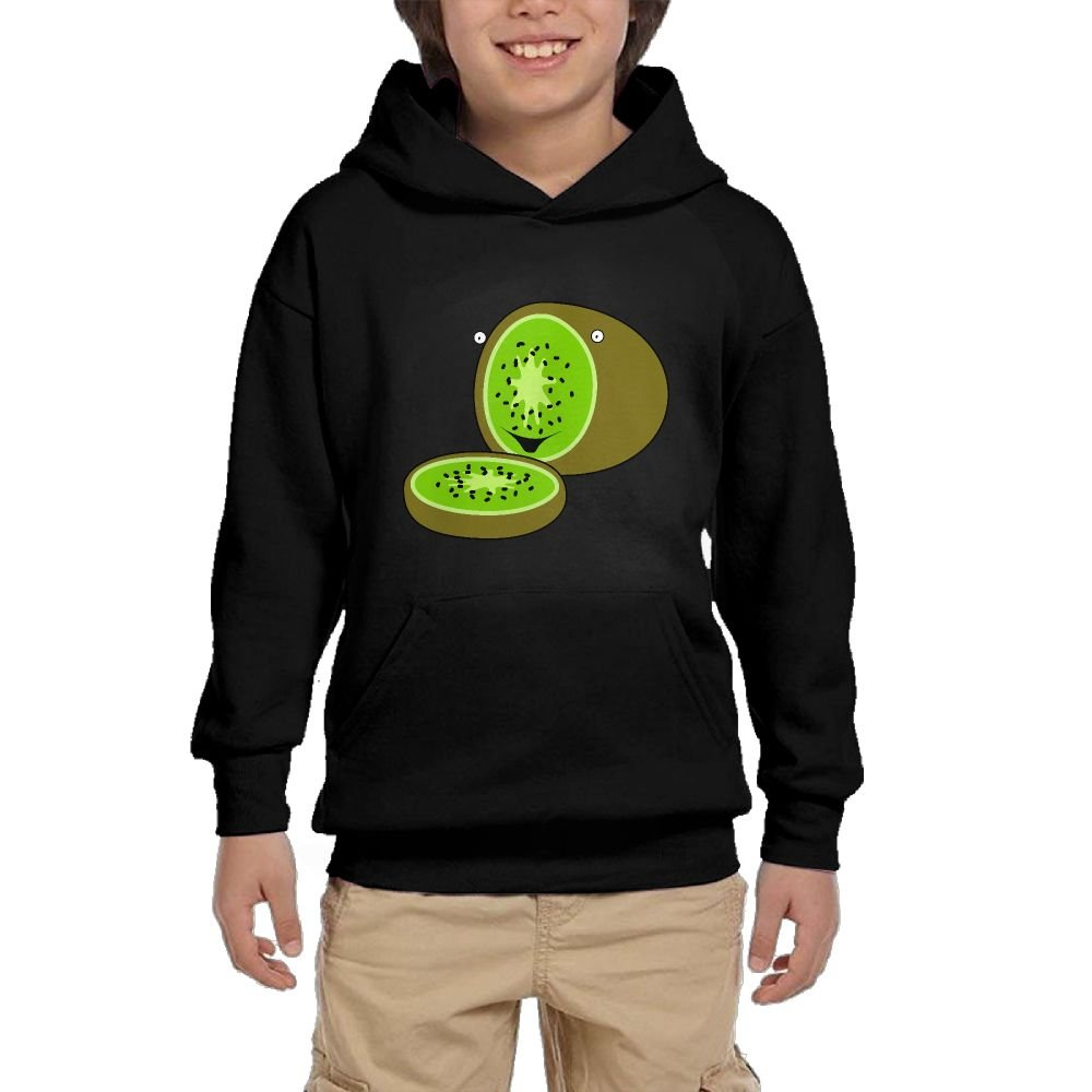 GLSEY Kiwifruit Is Cut Off Youth Soft Pullovers Hooded Sweatshirts Long Sleeve