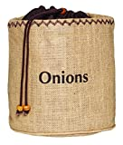 Kitchen Craft Java Hessian Onion Preserving Bag with Blackout Lining