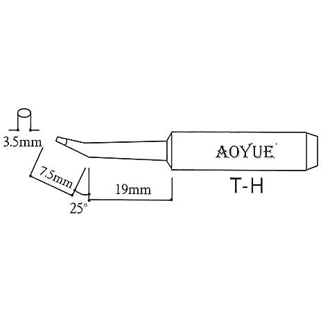 AOYUE T-H Punta de soldadura oval Ø3.5mm