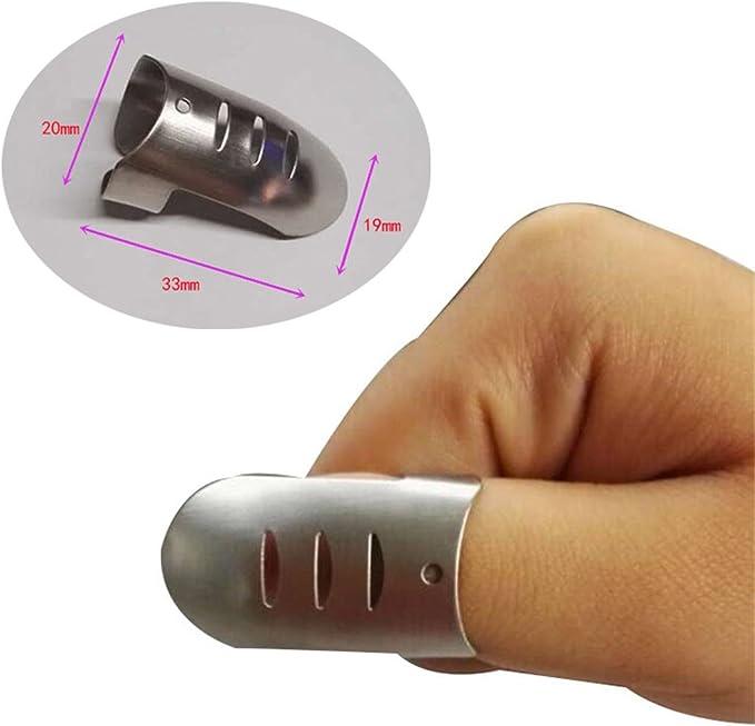 Rouku Fingerschutz Edelstahl Finger Handschutz Fingerschutz Schneidwerkzeuge