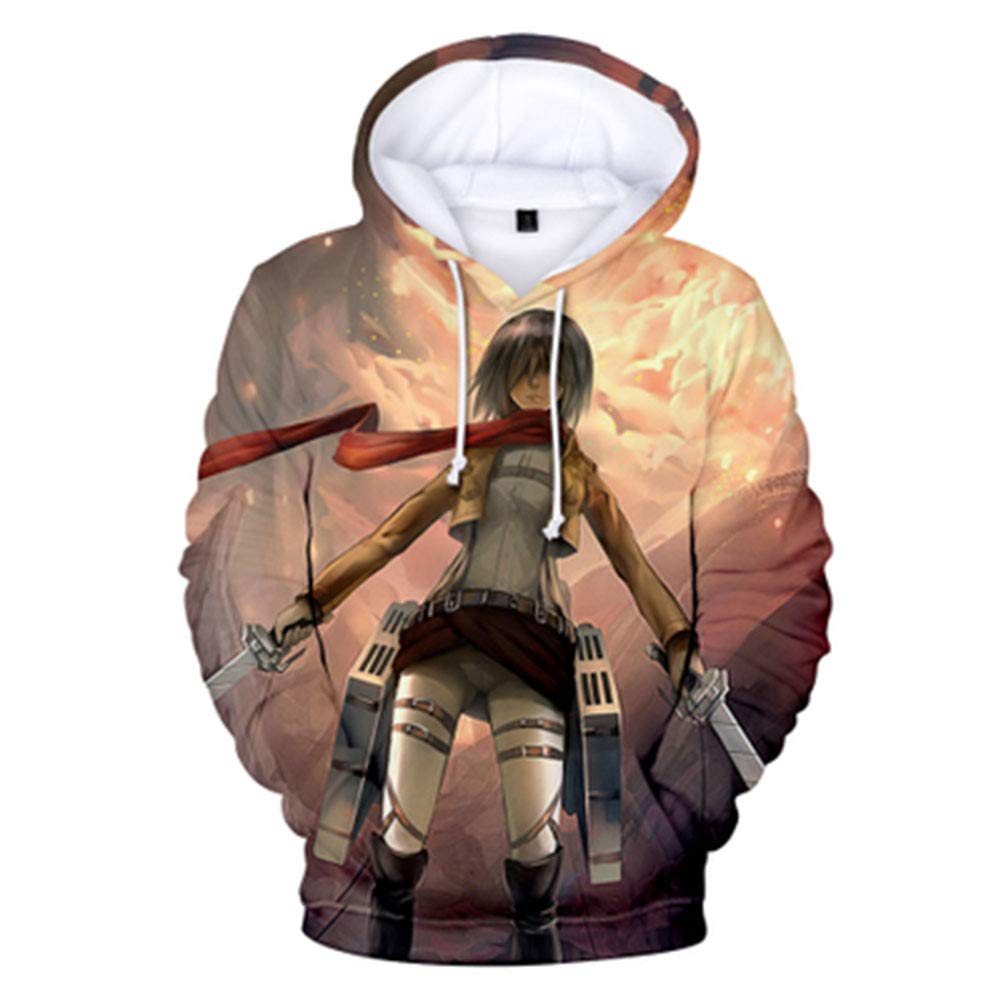 Gumstyle Anime Attack on Titan 3D Printed Pullover Hooded Sweatshirt