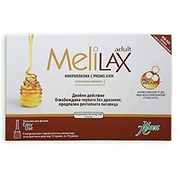 Aboca Melilax 6 Micro Enemas for Adults and Teenagers by Aboca ...