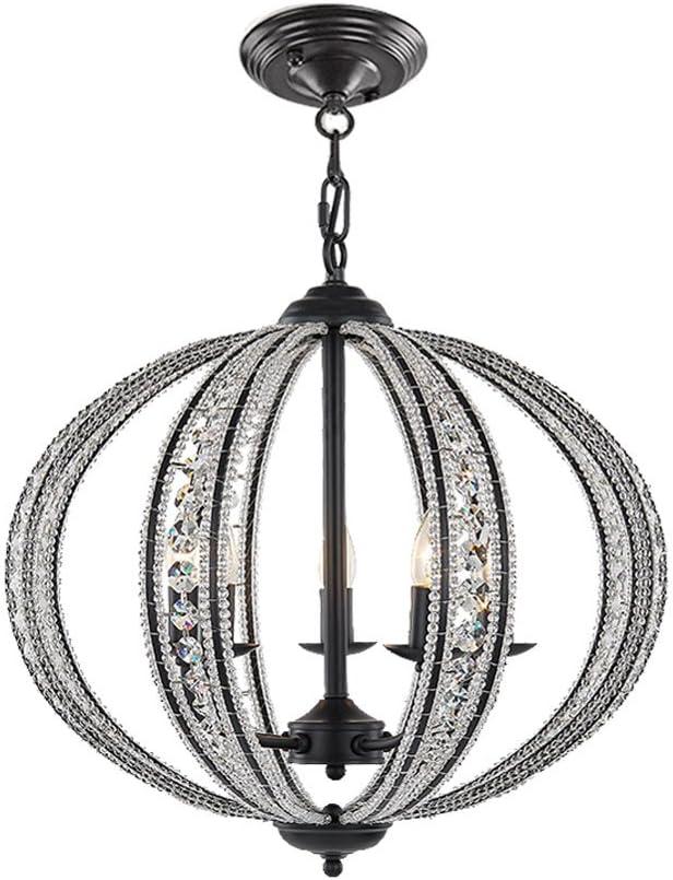 DINGGU 5 Lights Antique Black Iron Chandelier for Living Room Bedroom Dinner Room W21.5 XH20.5