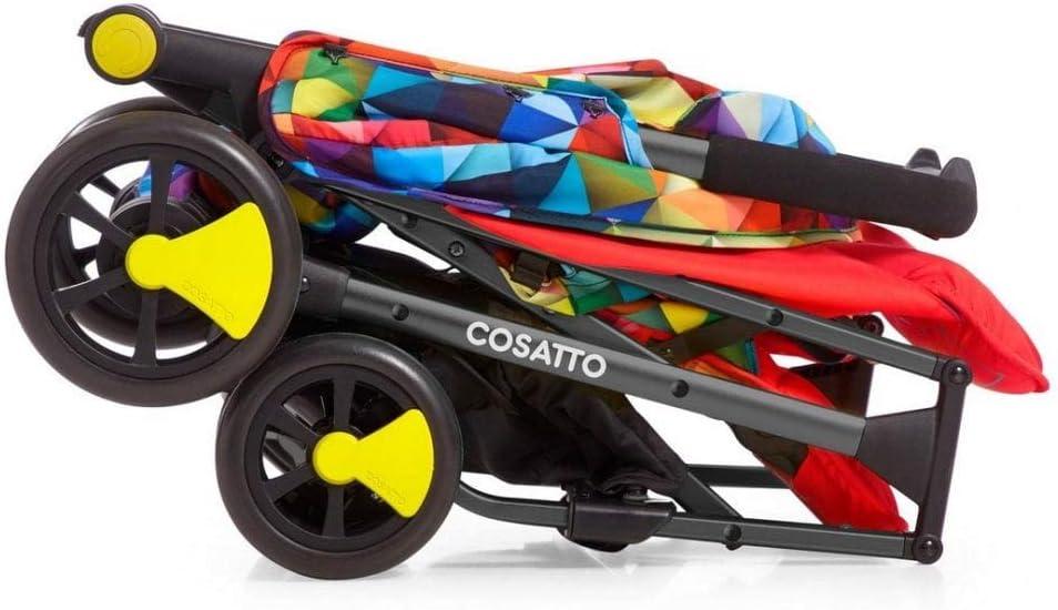 Cosatto Woosh 2 Spectroluxe Poussette avec housse de pluie et barre pare-chocs Pour la naissance jusqu/à 25 kg