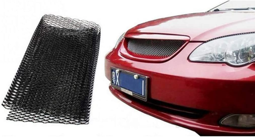 Schwarz B Baosity Auto Frontsto/ßstangenschutz Grill Abdeckung Entl/üftungsnetz Gittermatte Schutzgitter 8x16mm