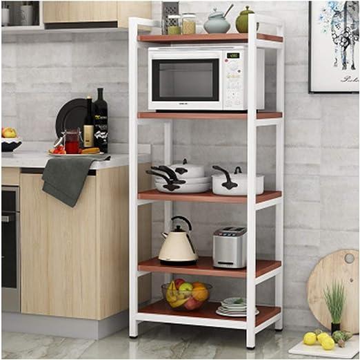 Soporte de microondas, el versátil estante de cocina Estante de cocina para muchas necesidades Parrilla de horno multifunción La parrilla de horno de microondas ahorra espacio-White-5-shef/60cm: Amazon.es: Hogar