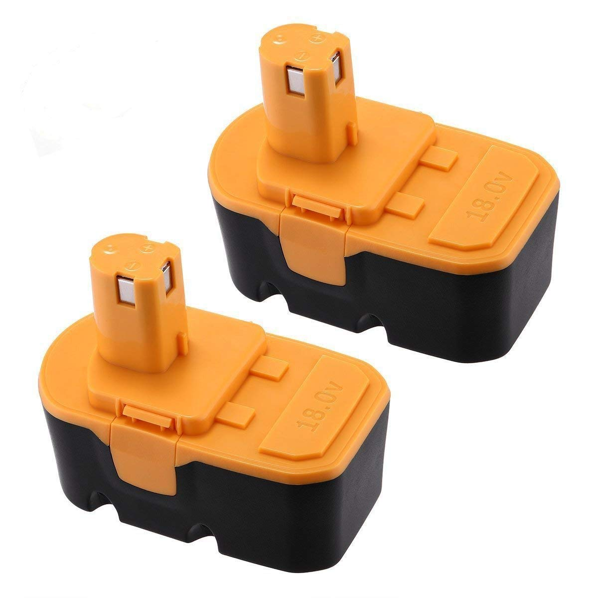 [Generic] Powerextra Upgraded 2 Pack 3000mAh Battery NI-MH Replacement Battery for Ryobi 18V Battery Ryobi one plus Battery Ryobi P100/P101 ONE+ 18V Battery