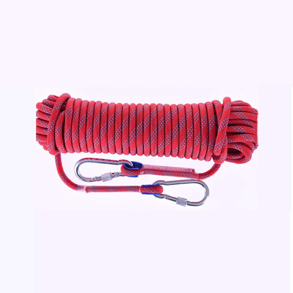 Rouge YXWssa Cordes Corde en Nylon optionnelle, résistante à l'usure, de différentes Dimensions et de 10 mm d'épaisseur pour extérieur équipement d'escalade (Couleur   rouge, Taille   10mm-20m) 10mm-20m