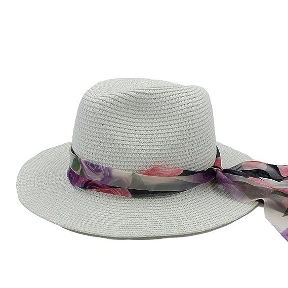 JiuRui Gorras Sombreros Para Elegante Señora Panama sombrero Bowknot Fedora Sombrero, 2017 señoras de moda sombrero de sol para mujeres sombrero de playa de ...