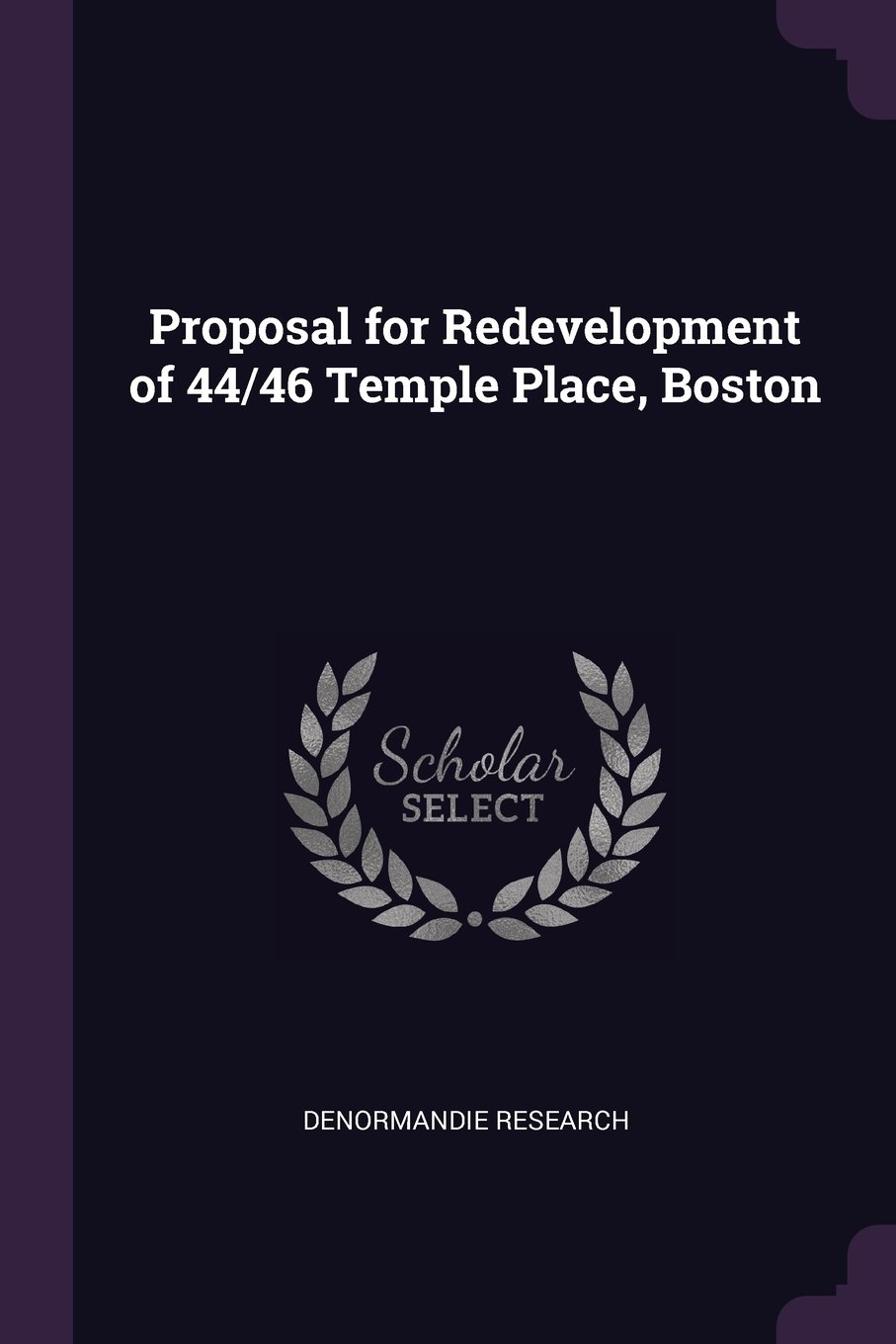 Download Proposal for Redevelopment of 44/46 Temple Place, Boston pdf epub