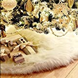 48 Inch Christmas Tree Plush Skirt Decoration for Merry Christmas Party Christmas Tree Decoration