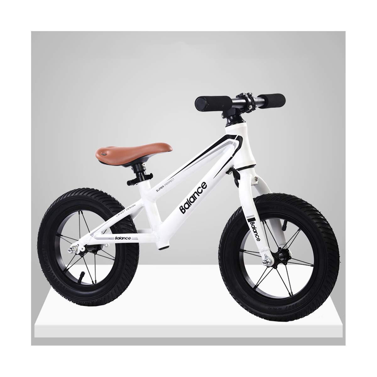 Lega di Alluminio Bambino Equilibrio Bici per Bambini del Camminatore Forniture a Due Ruote Scorrimento Stepper Walker Passeggino Senza Pedali,bianca,Aluminum