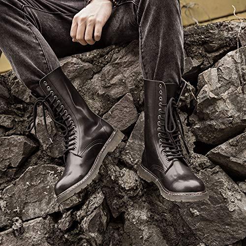 Punk Style New Tooling Stivali Alti da Uomo Extra Large