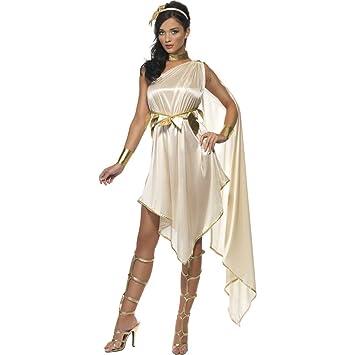Disfraz antiguo de diosa griega vestido túnica romana