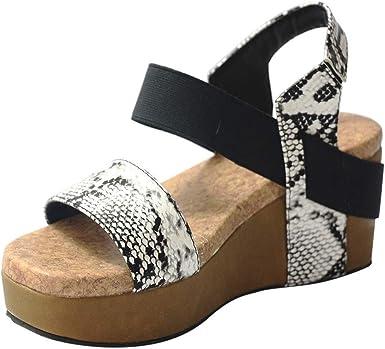 Goddessvan 2019 Women Peep Toe Breathable Beach Sandals Leopard Buckle Strap Square Heel Shoes Sandal