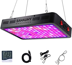 1500W LED Grow Light, SAHAUHY Full Spectrum LED Plant Growing Lamp for Indoor Plants Veg and Flower with Daisy Chain Double Chips(144pcs 10W)