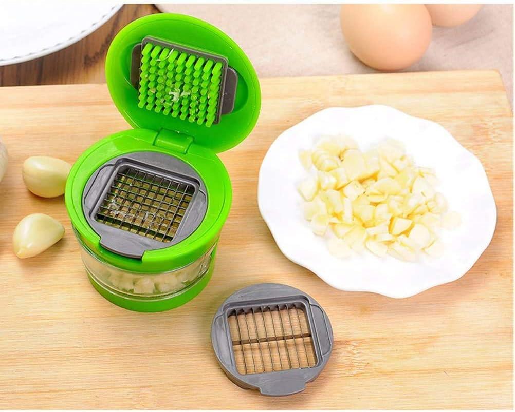 Cocina Casa Prensa ajos Picadora Picadora Manual Utensilios Verduras Color al azar Pica ajos Presione
