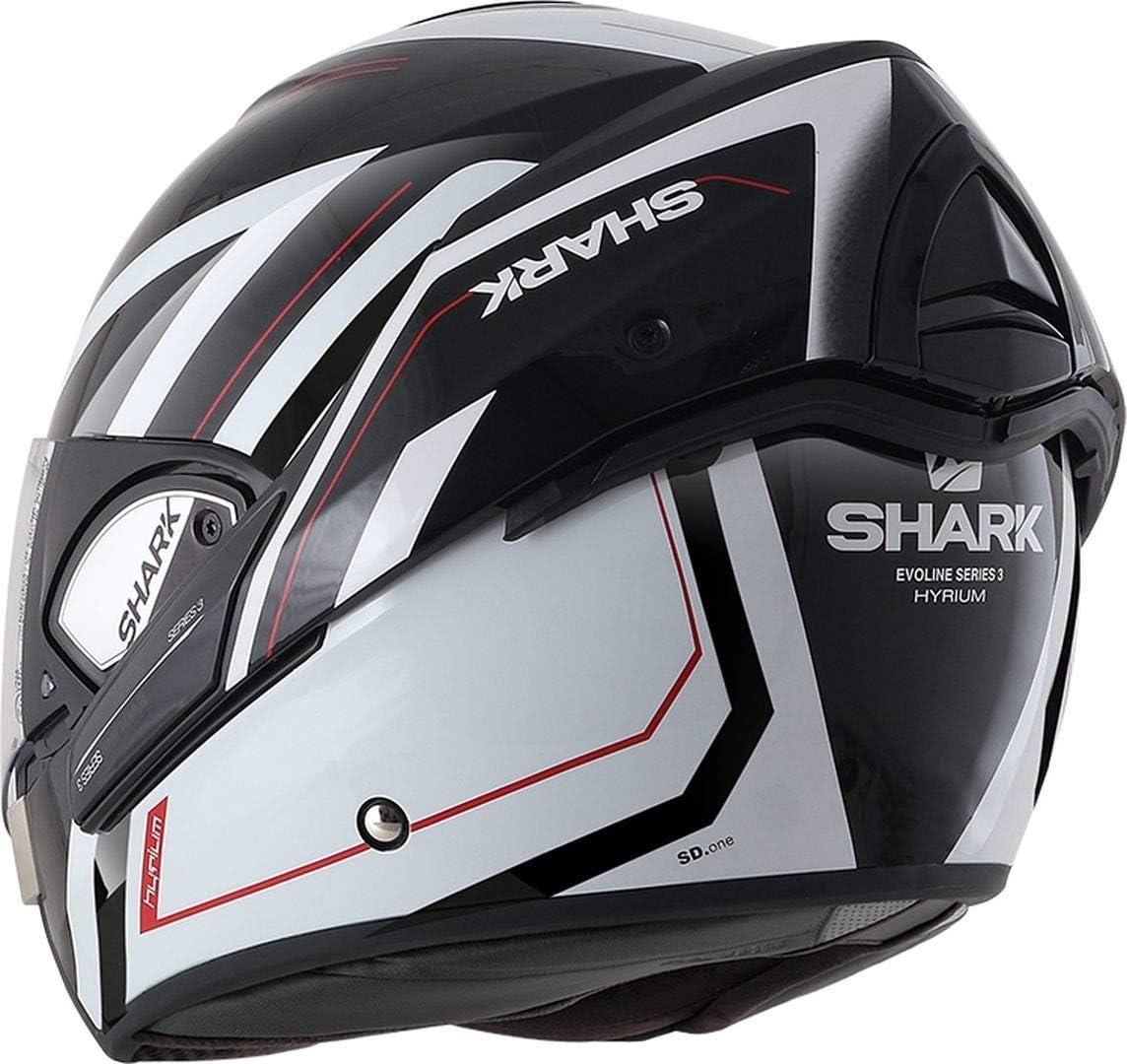 L Shark Motorradhelm EVOLINE 3 BLANK Mat AMA Anthracite