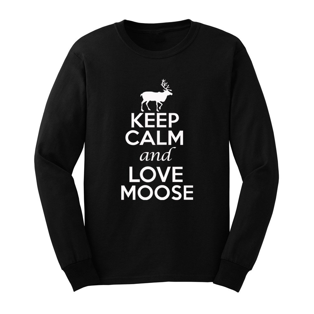 Loo Show S Keep Calm And Love Moose Adult T Shirts Casual Tee