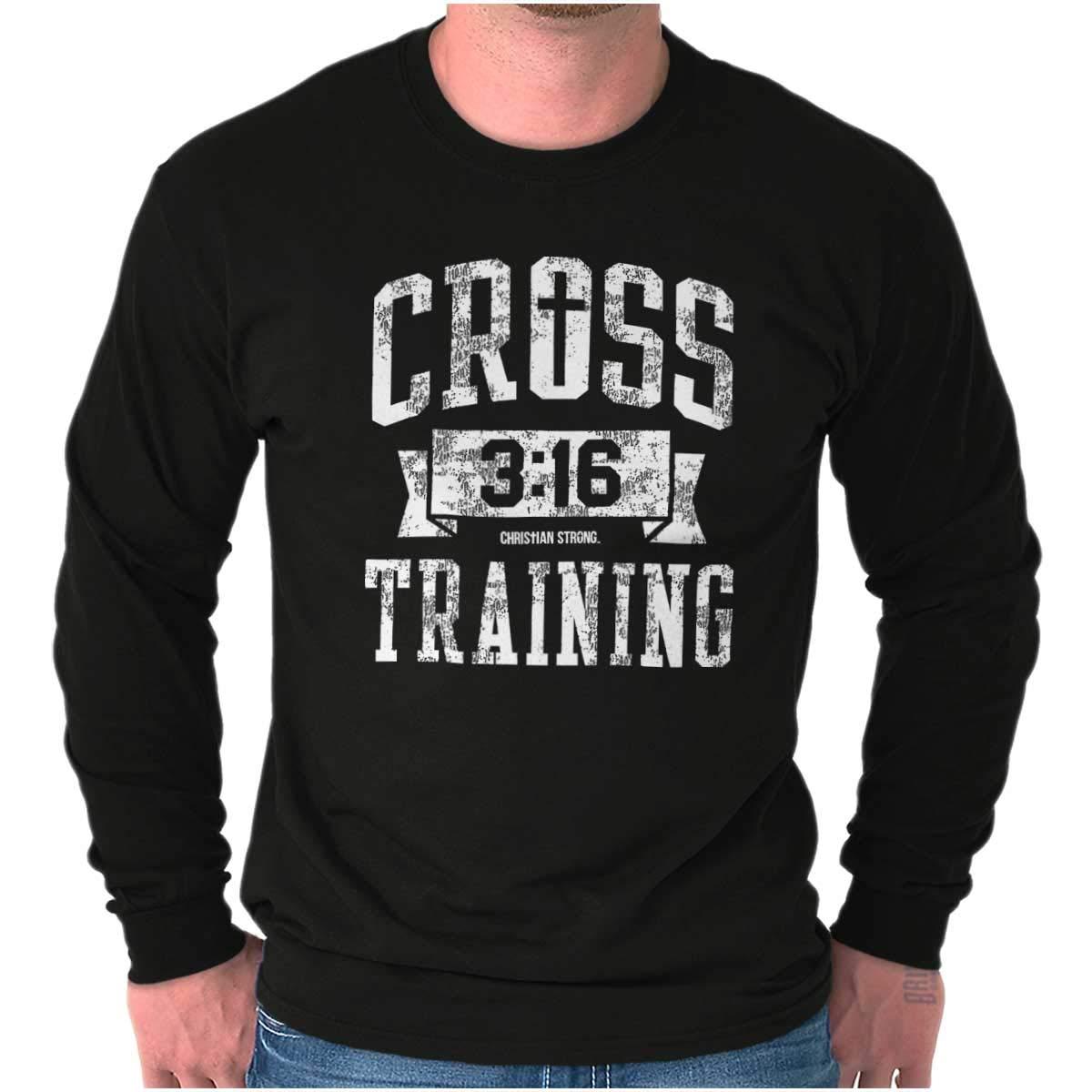Brisco Brands Cross Training Christian Religious Lord God Long Sleeve T Shirt