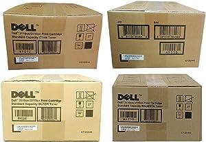 Dell 3110Cn Toner Cartridge Set (Oem) Black, Cyan, Magenta, Yellow