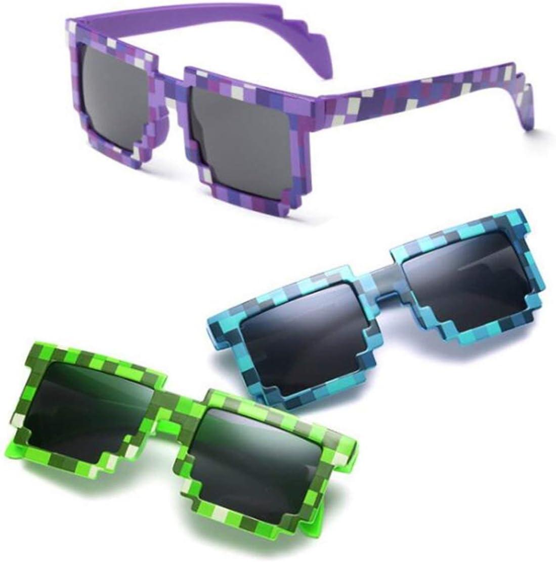 European And American Fashion Mosaic Children Funny Sunglasses Plaid Sunglasses Cute Children Glasses Jasnyfall Blue plaid
