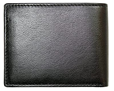 Rusoji Mens Leather Bifold Wallet with Removable Passcase ID Window