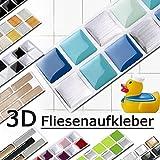 Grandora W5288 Mosaico Adesivo per piastrle effetto 3D grande scelta Adesivo da muro Cucina Bagno Decorazione piastrelle Pellicola autoadesivo - come selezionato, Design 1