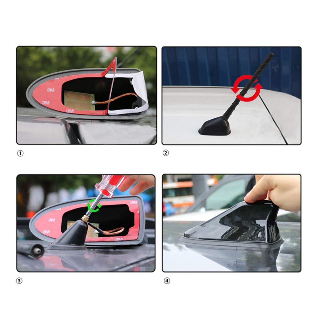 Marrone Psler Universale Auto Impermeabile Pinna di Squalo Antenna Segnale Radio FM//AM Accettabile