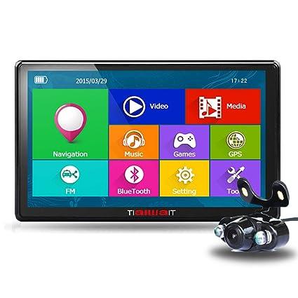 tiaiwait coche GPS Sat Nav/7 Inch HD Bluetooth de navegación GPS con actualizaciones de