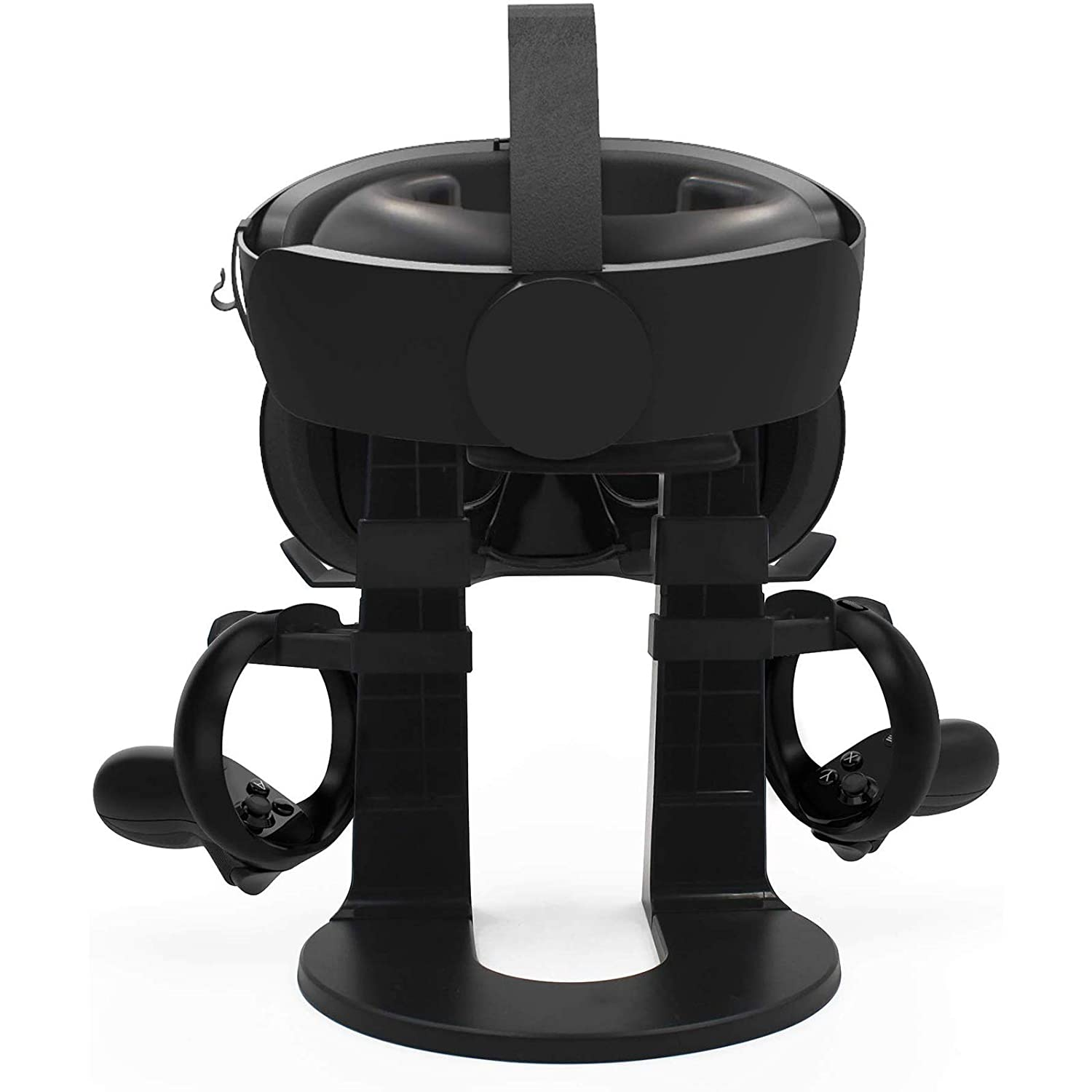 LICHIFIT AMVR VR Stand Headset Display Holder Controller Mount Station for Oculus Rift S//Oculus Quest Virtual Reality Headset and Touch Controllers Organizer