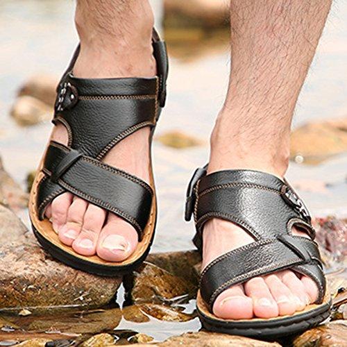 Sandali Spiaggia Estive Perizoma Yellow1 Pantofole Da 38 Nuoto 47 Toes Scarpe Open Vera Pelle Plus Uomo Da Size Infradito HnHYwqrC