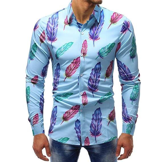 Blusa de Hombre, BaZhai, 2018 Blusa Impresa de la Manera del Hombre Camisas Ocasionales