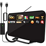 2021 Upgrade TV Antenna with Powerful Built-in Amplifier,220+ Miles Range Digital HDTV Antenna-19.6ft Long Cable,Support All