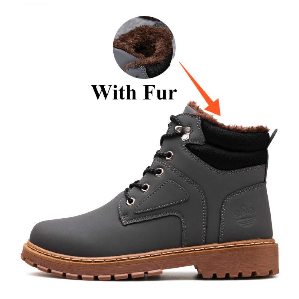 bd54752ddb FHCGMX Winter mit warmen Schnee Stiefel für männer Turnschuhe Schuhe  Erwachsene Gummi Rutschfeste beiläufige Arbeit Stiefeletten