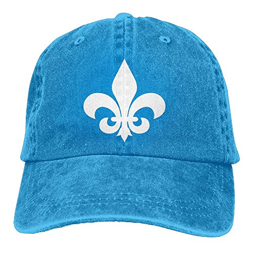 UCOOLE Fleur De Lis Dad Hat Adjustable Denim Hat Classic Baseball Cap