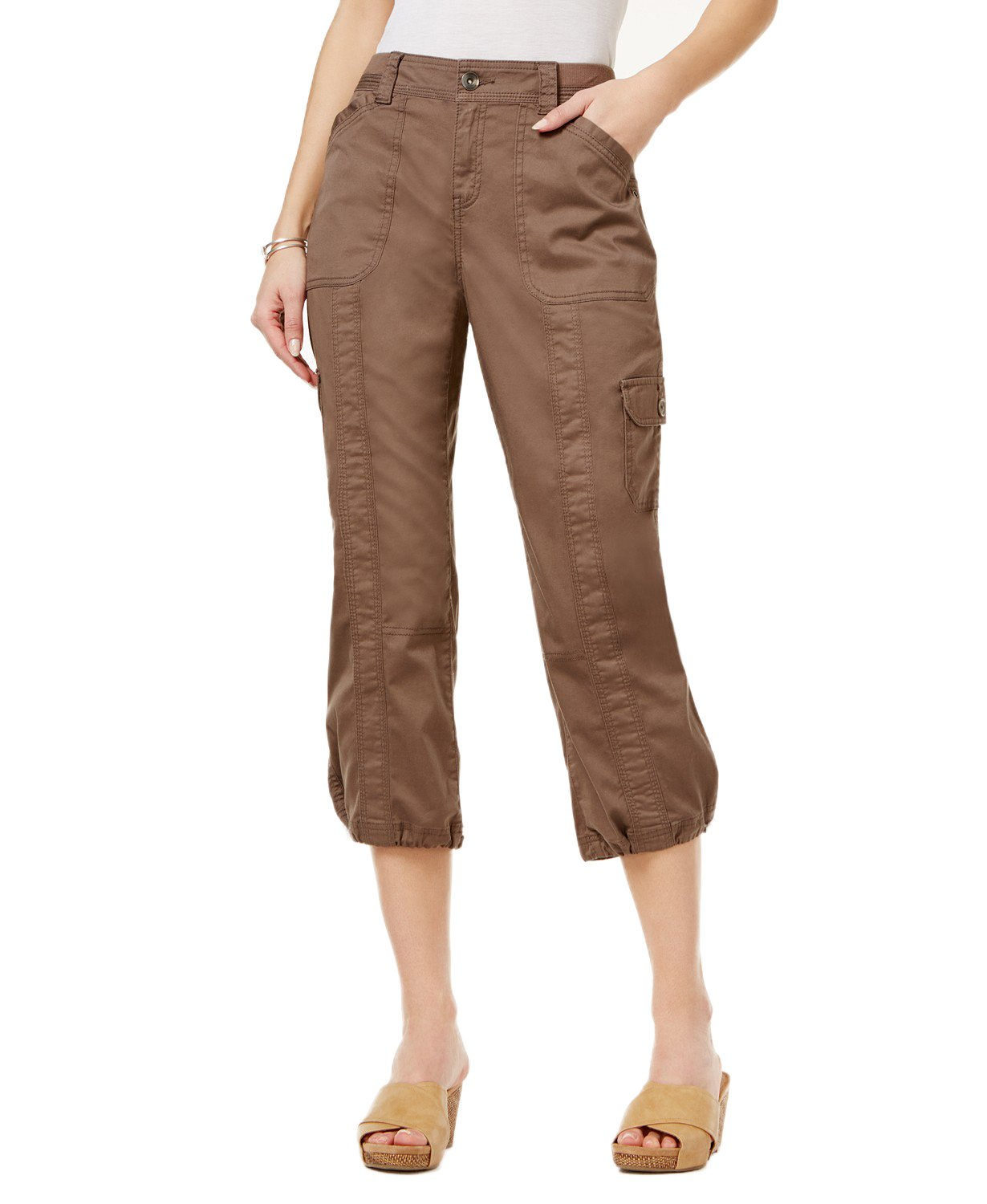 Style & Co. Classic Cargo Capri Pants (Brown Clay, 16)