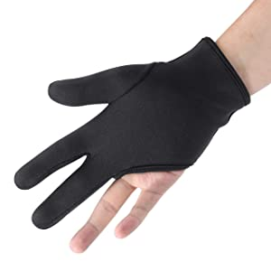 FALETO Professional Heat Resistant Gloves 3 Finger Mittens Protection Gloves for Barber Hair Styling Curling, Perming,Hair Straightening, Curling Wand and Flat Iron
