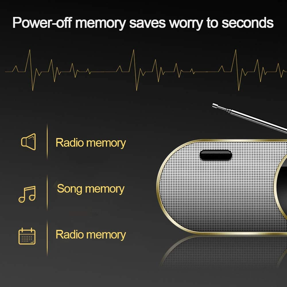 Portable Digital Radio FM Stereo,Multi Band Radio,Display /& External Antenna /& Rechargeable Battery /& Stereo Sound